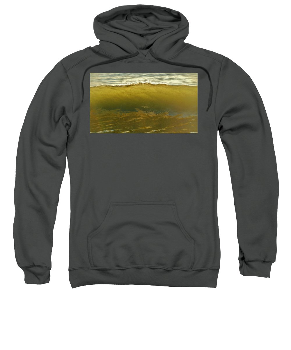 Mark Lemmon Cape Hatteras Nc The Outer Banks Photographer Subjects From Sunrise Sweatshirt featuring the photograph Bait Filled Wave 7 10/31 by Mark Lemmon