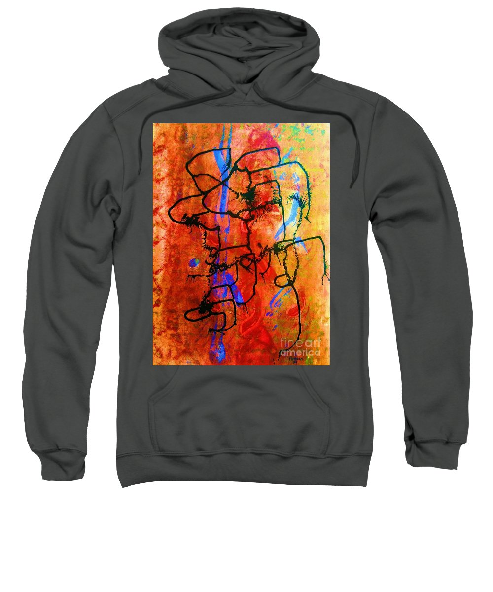 Original Sweatshirt featuring the painting Baja Primative by Roberto Prusso