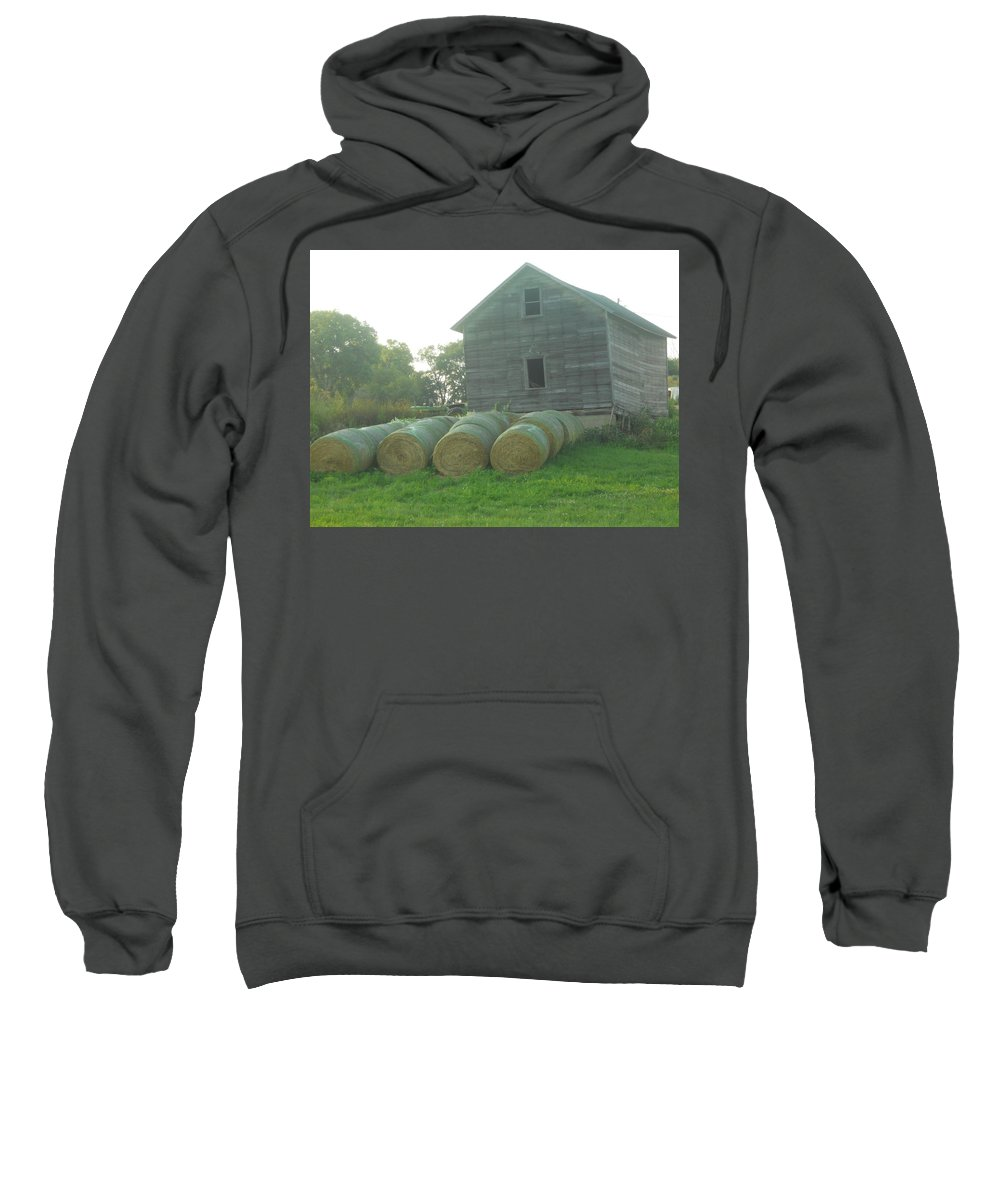 Hay Sweatshirt featuring the photograph Baling Out by Coleen Harty