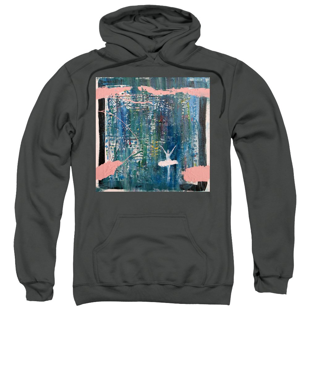 Ballerina Sweatshirt featuring the painting Ballerina by Fabrizio Cassetta