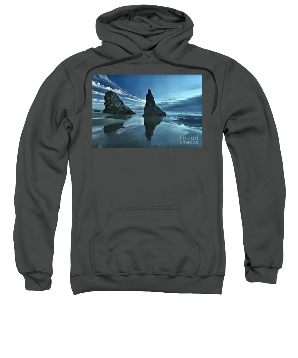 Bandon Beach Sweatshirt featuring the photograph Bandon Boots by Adam Jewell