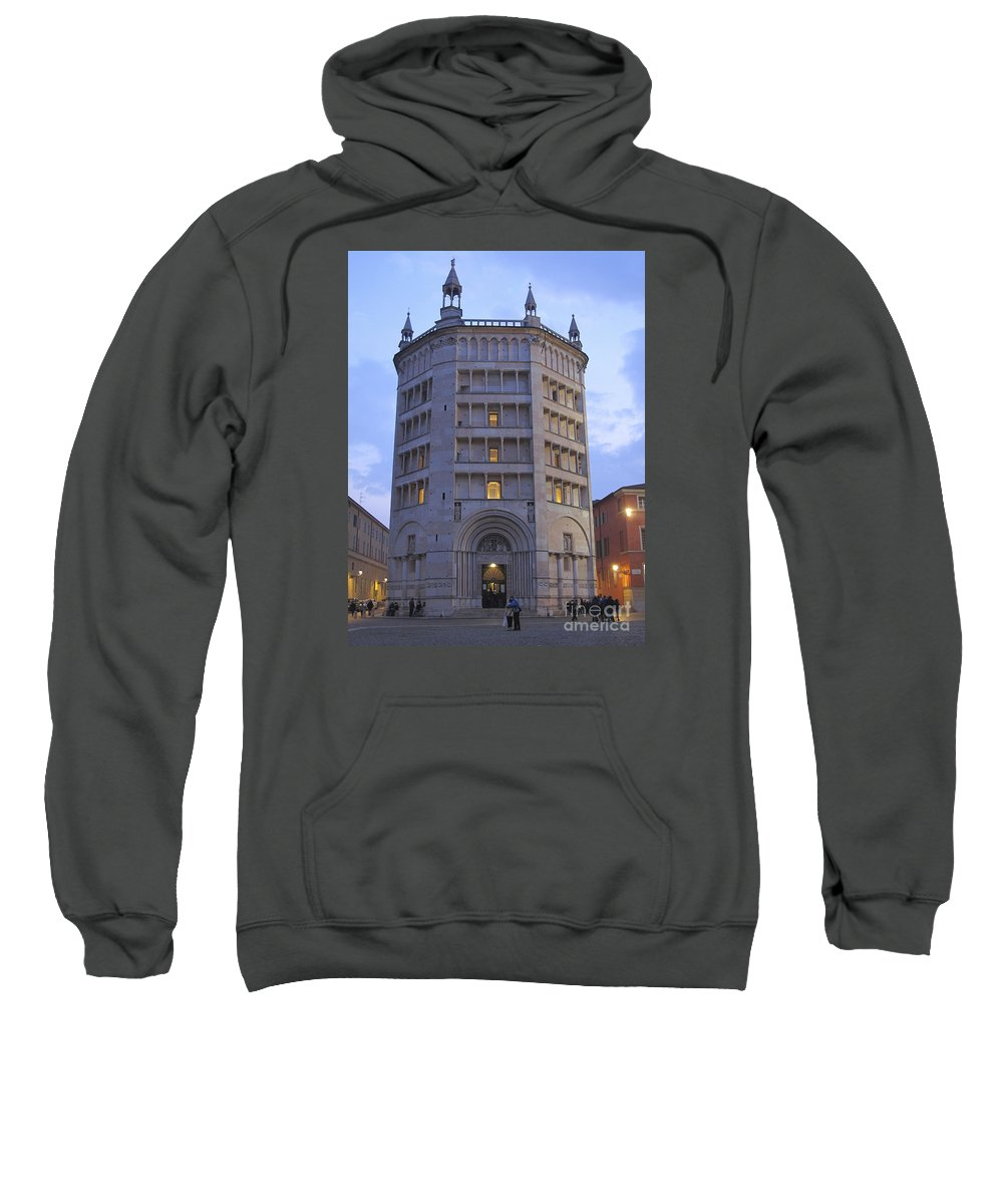 Baptistry Sweatshirt featuring the photograph Baptistery Of Parma by Riccardo Mottola
