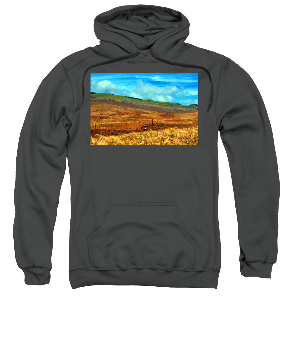 Barbed Wire Sweatshirt featuring the photograph Barbed Wire Fence by Paulette B Wright