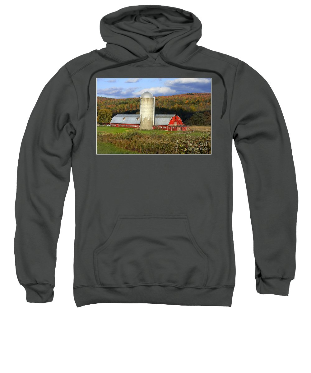 Landscape Sweatshirt featuring the photograph Barn On The River Rd. by Deborah Benoit