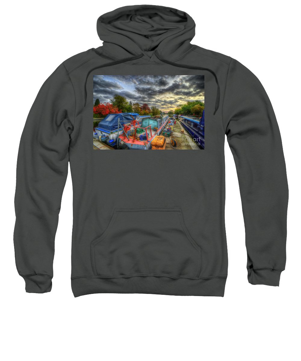 Hdr Sweatshirt featuring the photograph Barrow Boats by Yhun Suarez