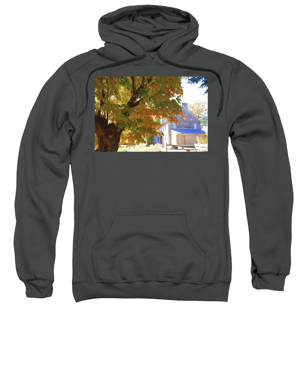 Bartrams Garden Sweatshirt featuring the photograph Bartram Orange by Alice Gipson