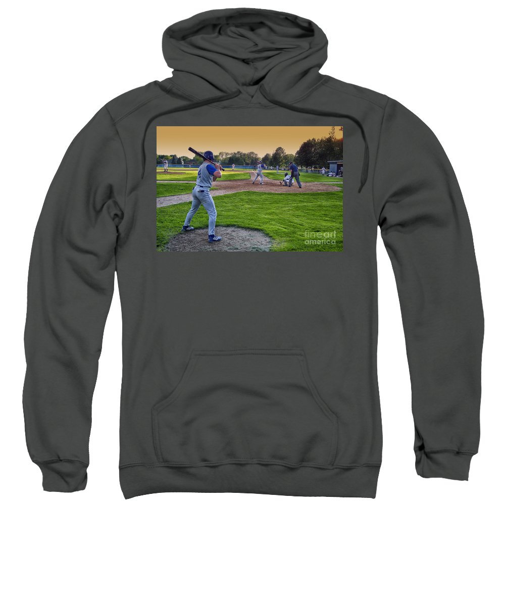 Sports Sweatshirt featuring the photograph Baseball On Deck Circle by Thomas Woolworth