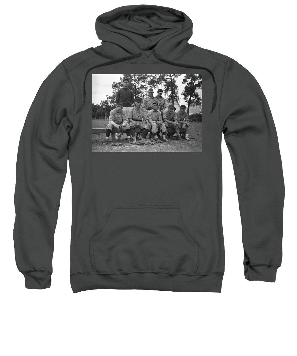 1938 Sweatshirt featuring the photograph Baseball Team, 1938 by Granger