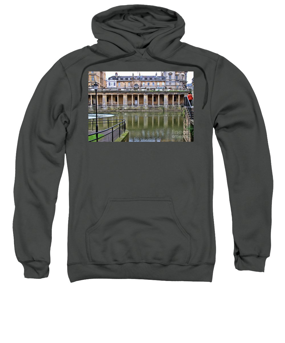 Bath England Sweatshirt featuring the photograph Bath Markets 8504 by Jack Schultz