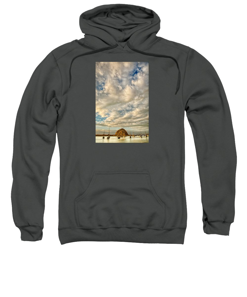 California Sweatshirt featuring the photograph Bay Clouds by Alice Cahill
