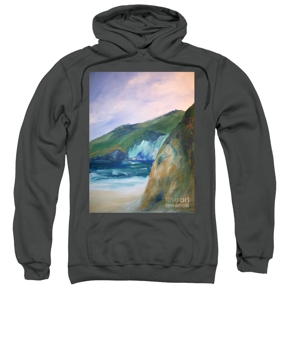 California Coast Sweatshirt featuring the painting Beach California by Eric Schiabor