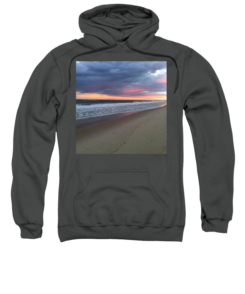 Sunset Sweatshirt featuring the photograph Beach Dreamin' by Aaron Martens