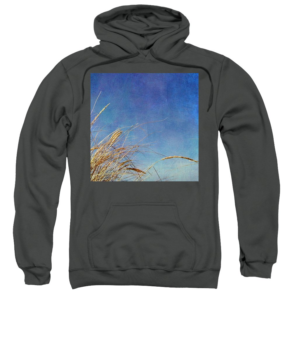 Beach Sweatshirt featuring the photograph Beach Grass In The Wind by Michelle Calkins