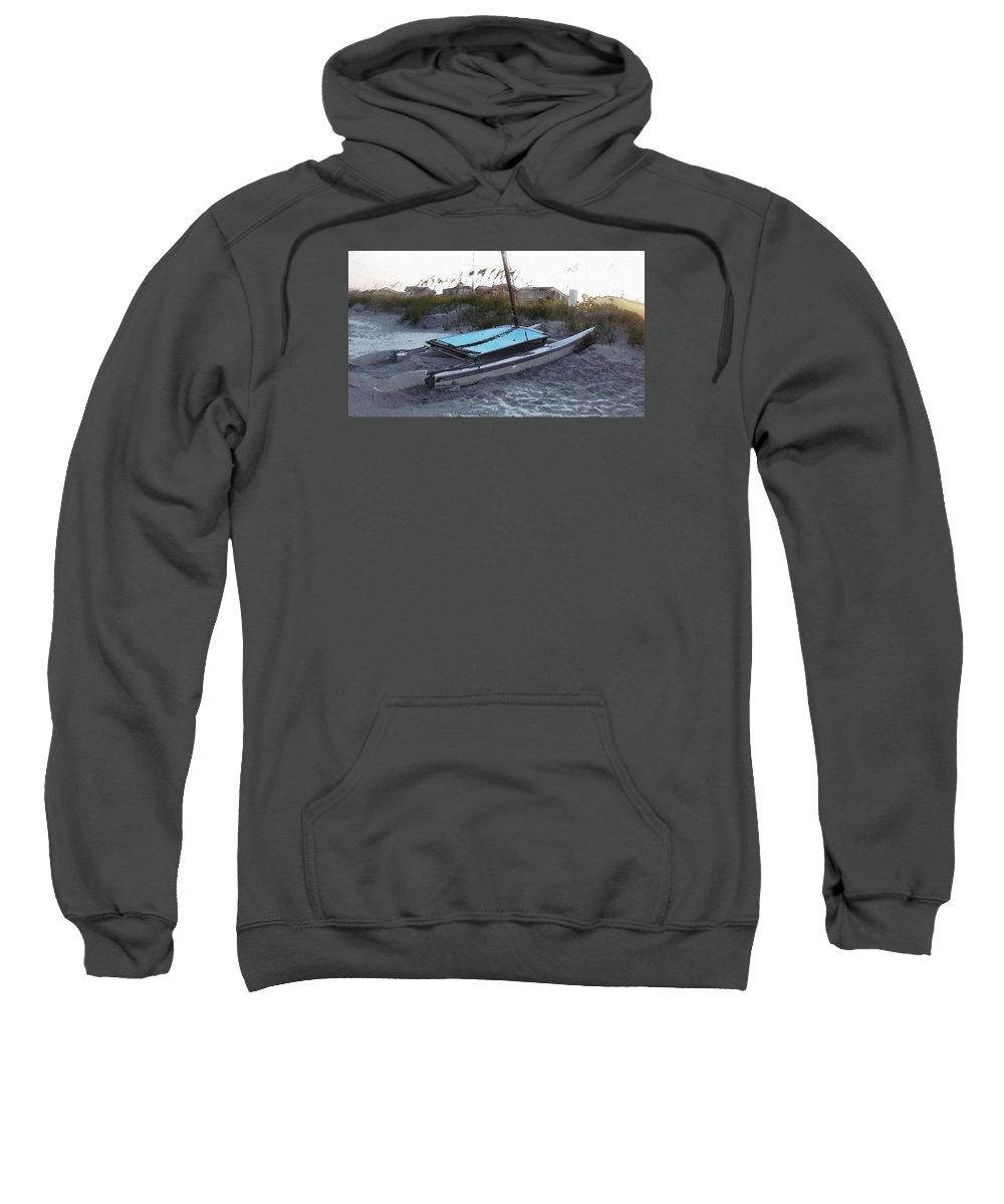 Boat Sweatshirt featuring the photograph Beached by Wendy Gertz