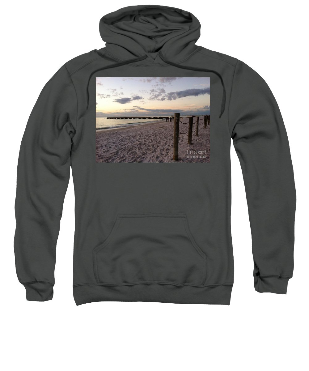 Landscape Sweatshirt featuring the photograph Beachscape by Melissa Darnell Glowacki