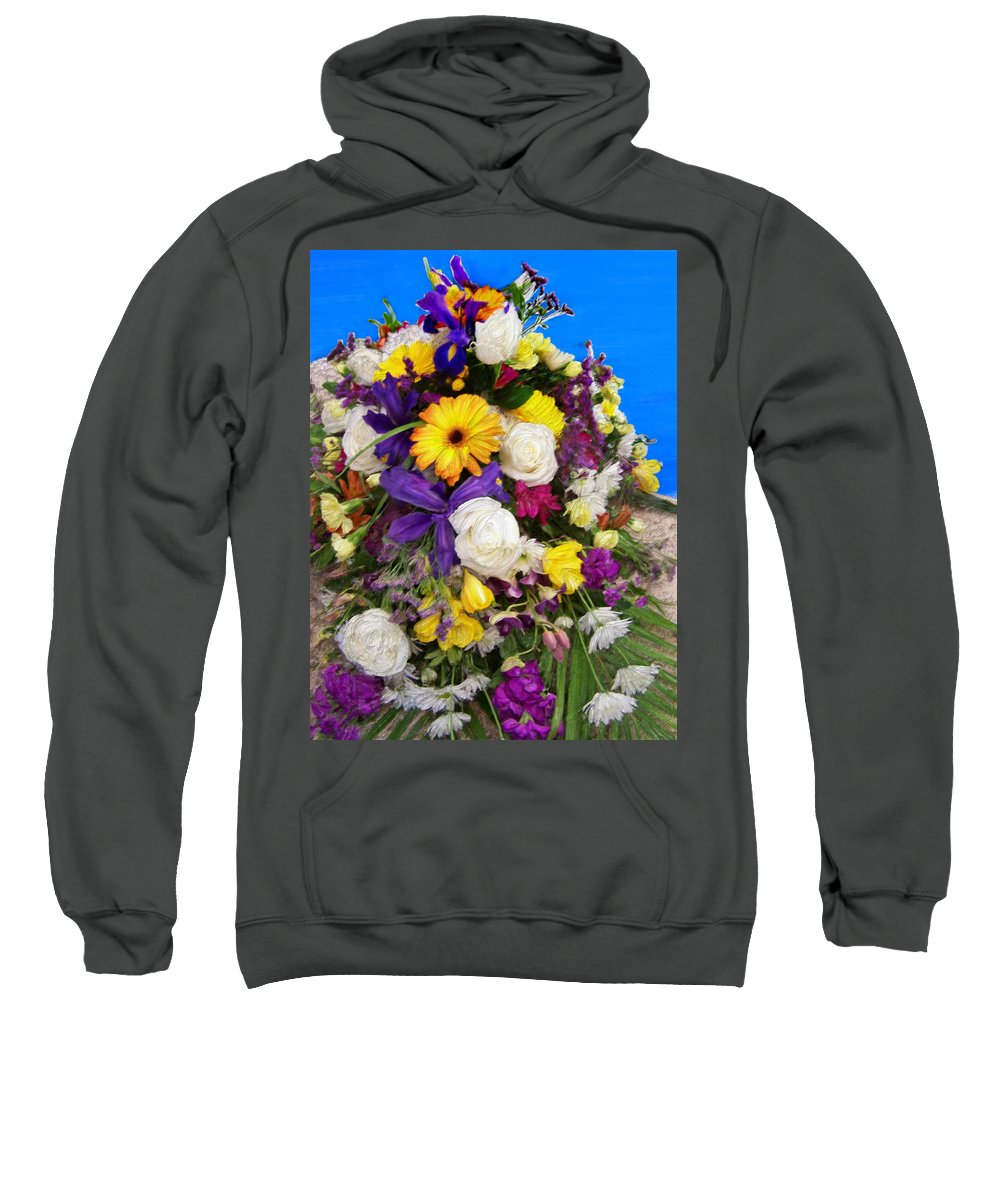 Flowers Sweatshirt featuring the painting Beautiful Bouquet Of Flowers by Bruce Nutting
