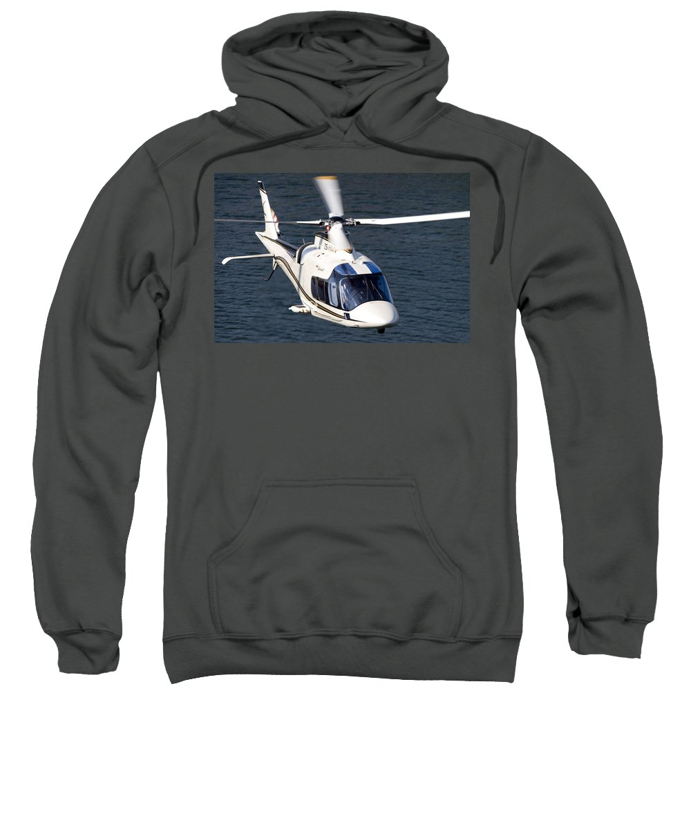 Agustawestland A109 Grand Sweatshirt featuring the photograph Beautiful Lines by Paul Job