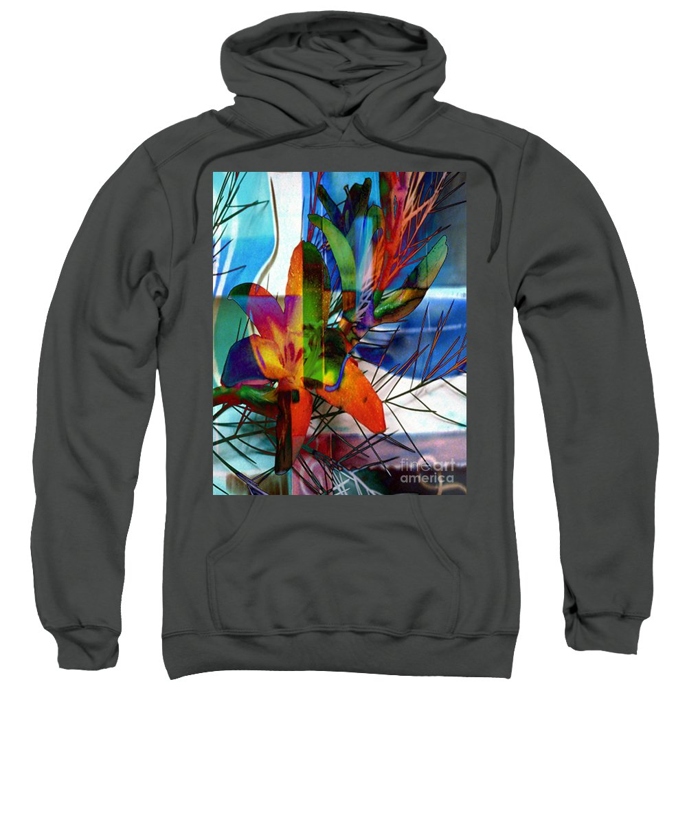 Digital Image Sweatshirt featuring the digital art Beauty by Yael VanGruber