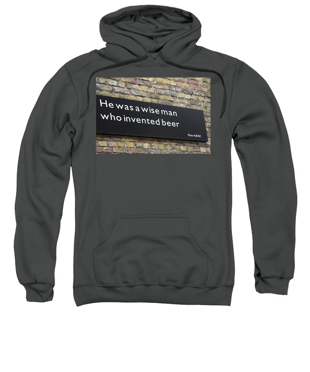 Black Sign Sweatshirt featuring the photograph Beer Sign by Sally Weigand