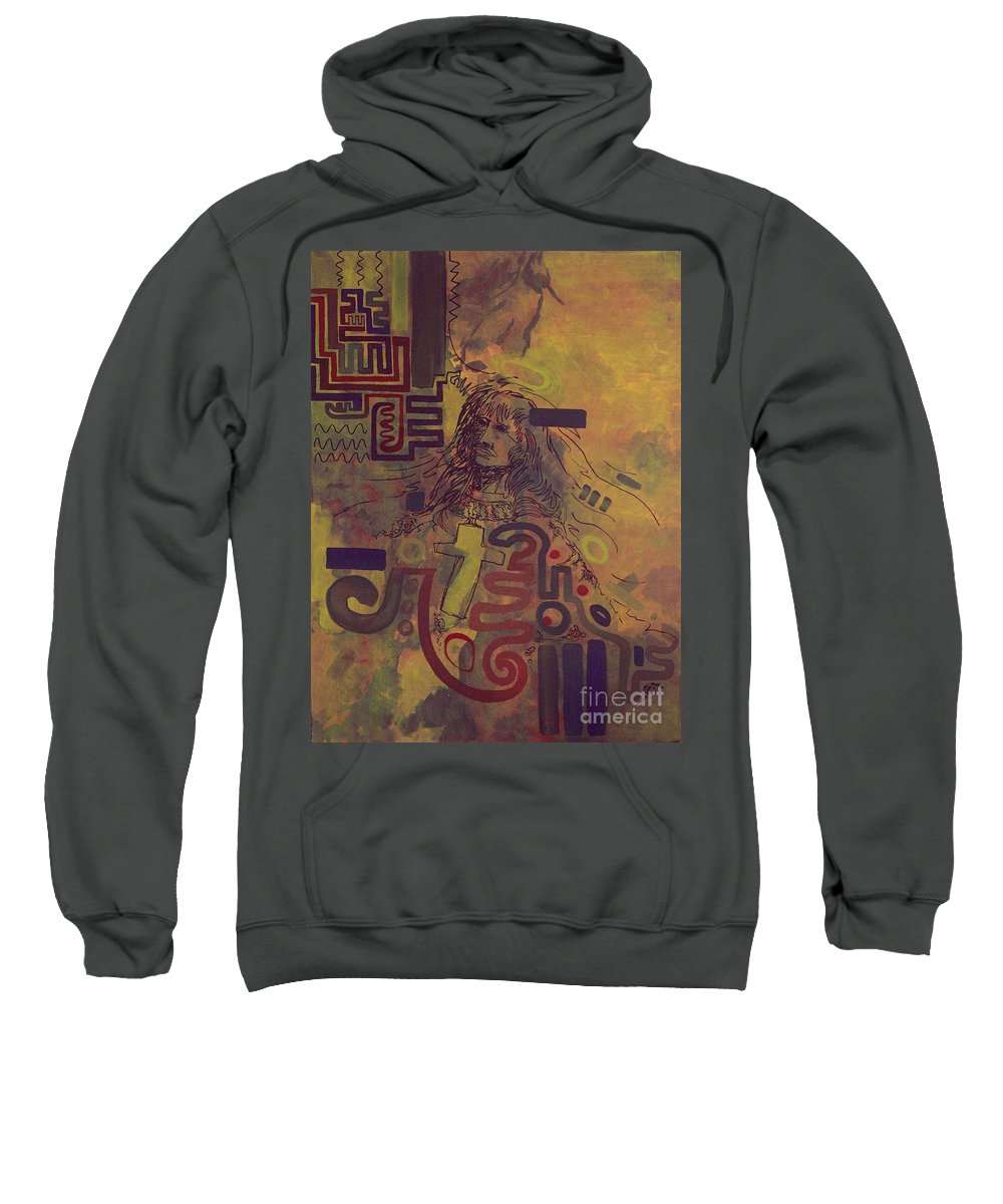 Abstract Sweatshirt featuring the painting Before And After by Tonya Henderson