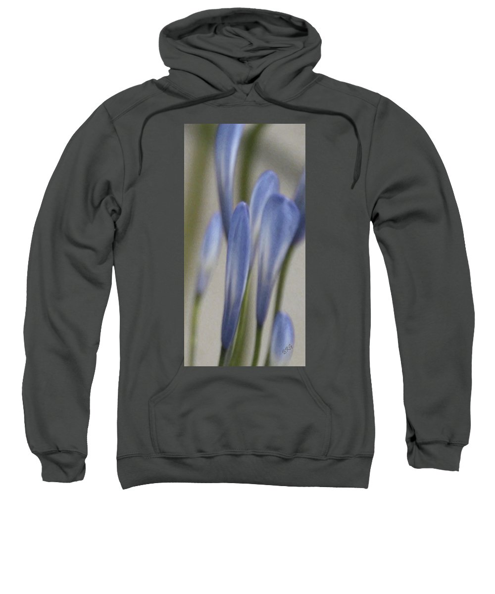 Floral Abstract Sweatshirt featuring the photograph Before - Lily Of The Nile by Ben and Raisa Gertsberg