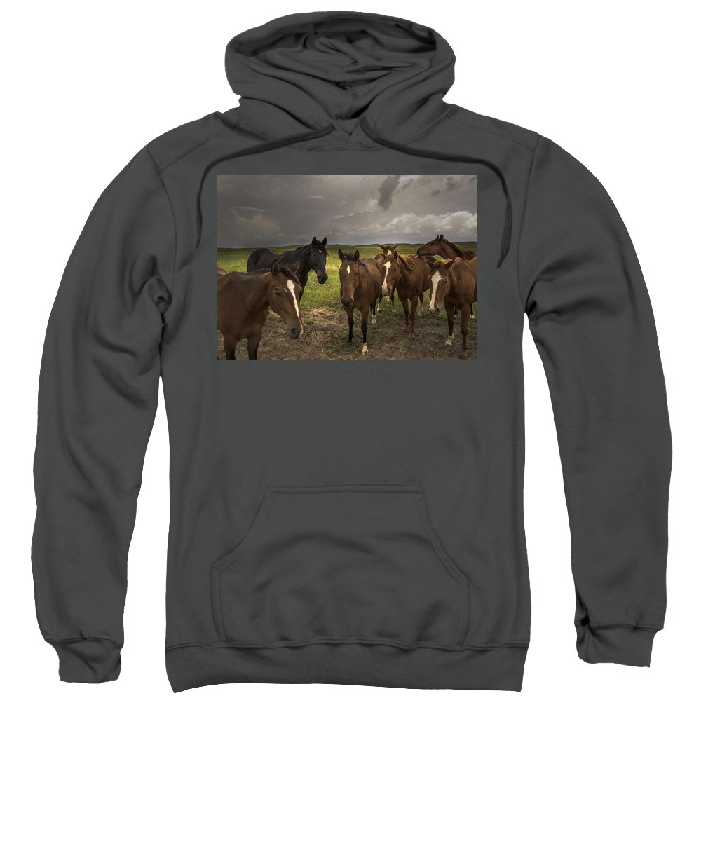 Sandhills Sweatshirt featuring the photograph Before The Storm by Rebecca Akporiaye