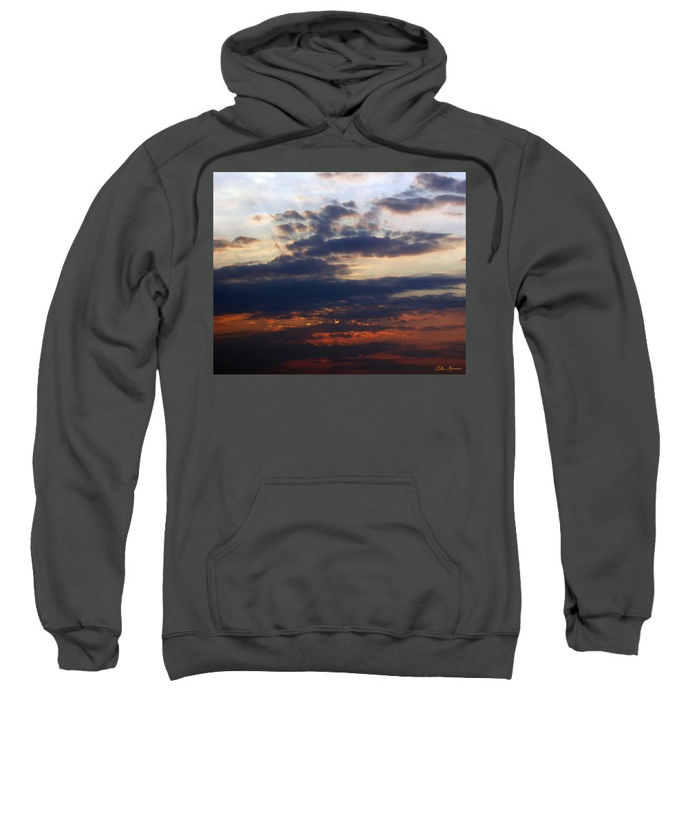 Behold The Dawn Sweatshirt featuring the painting Behold The Dawn by Ellen Henneke