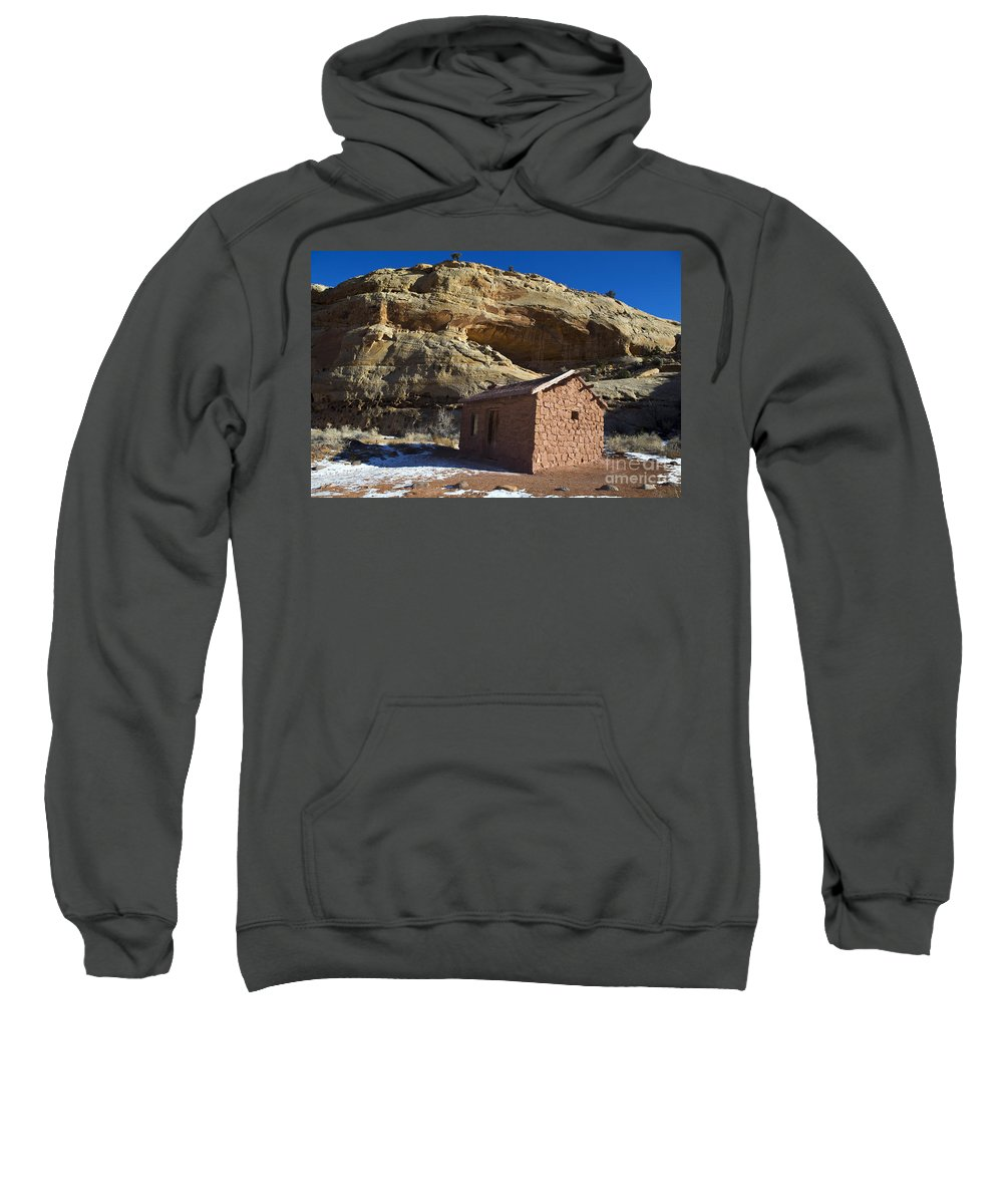 Capitol Reef Sweatshirt featuring the photograph Behunin Cabin Capitol Reef National Park Utah by Jason O Watson