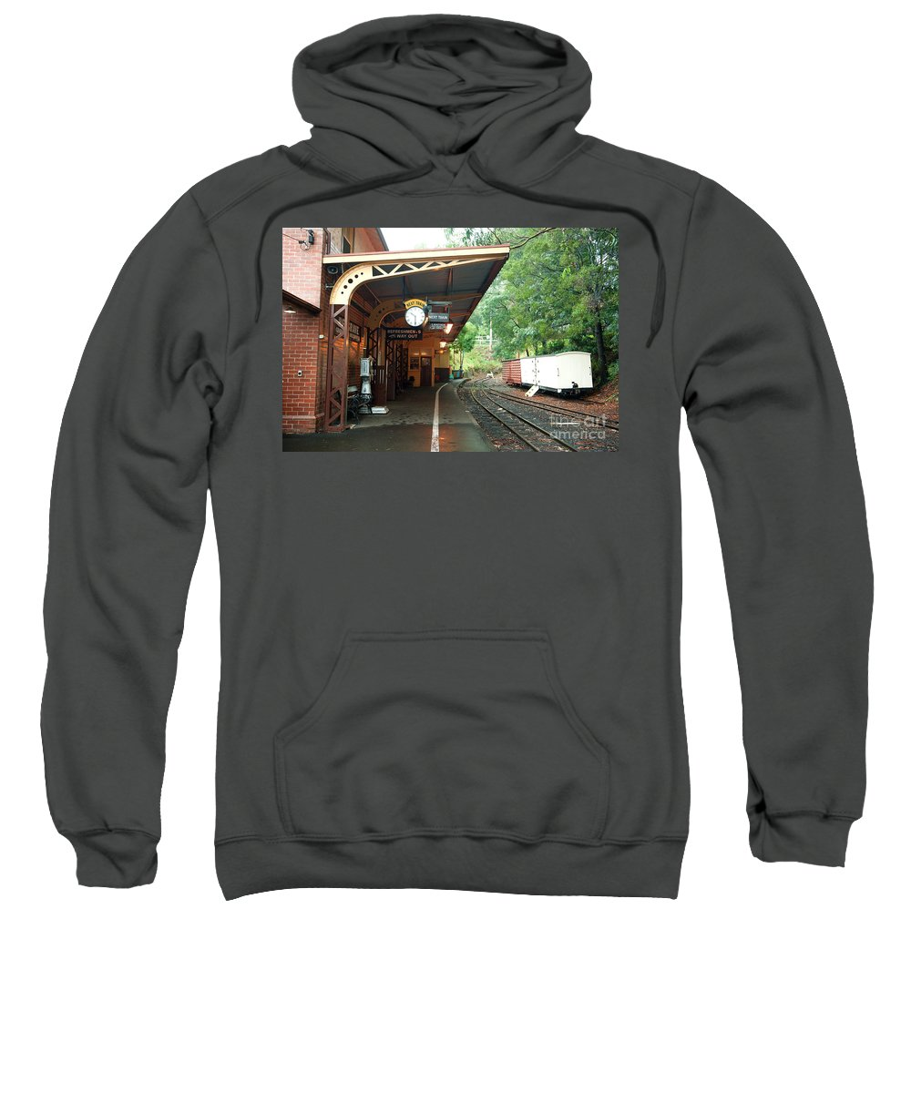 Australia Sweatshirt featuring the photograph Belgrave Train Station by Yew Kwang