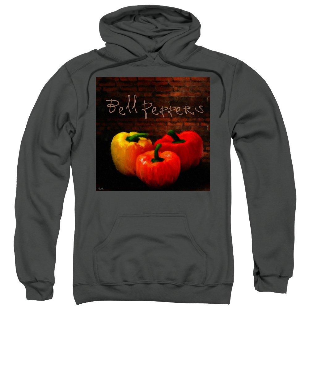 Onion Sweatshirt featuring the digital art Bell Peppers II by Lourry Legarde