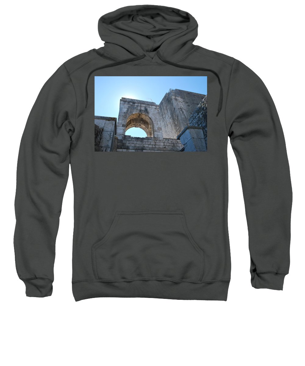 Sweatshirt featuring the photograph Bell Tower 1386 by George Katechis