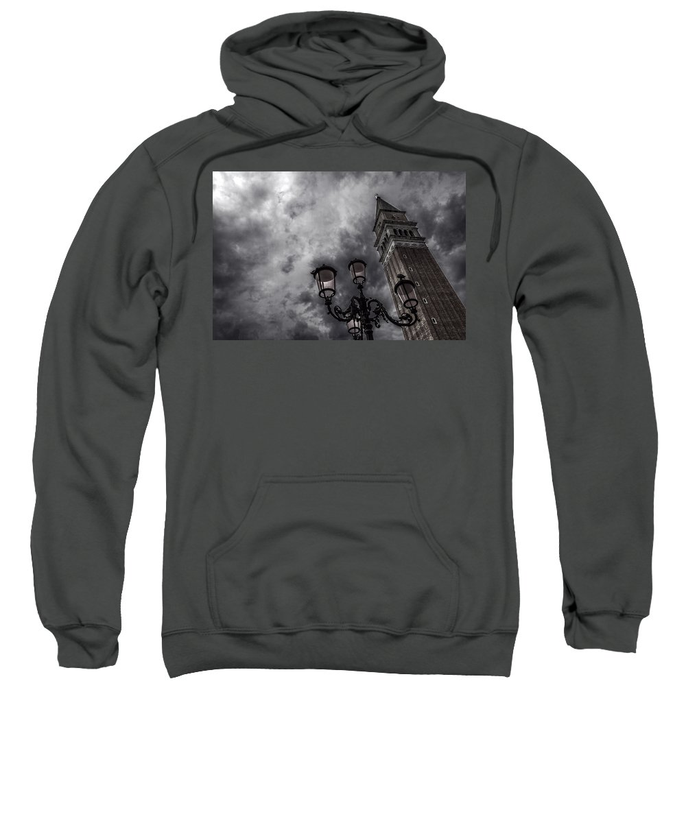 Neatimage Sweatshirt featuring the photograph Bell Tower And Street Lamp by Roberto Pagani