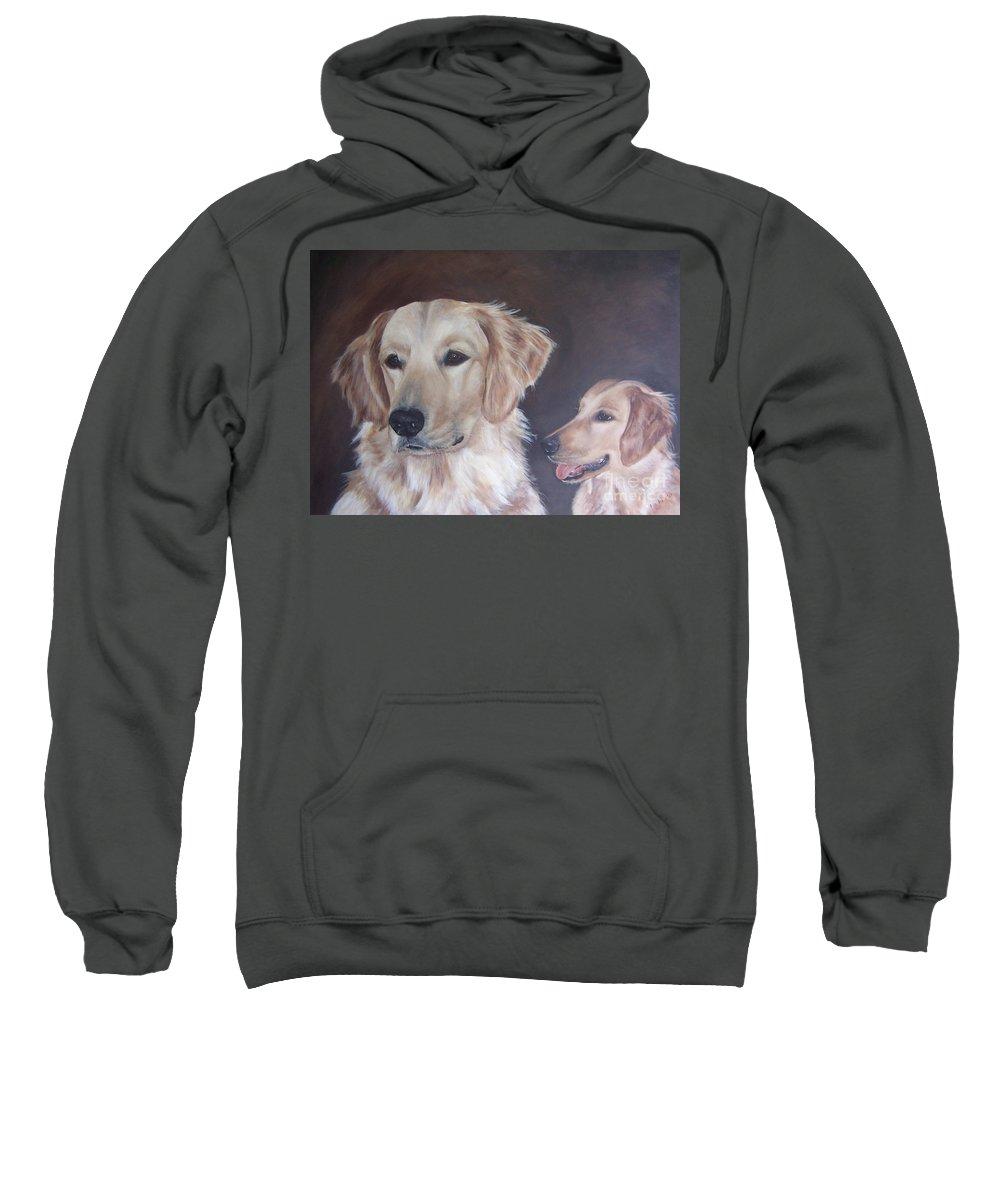 Golden Retrievers Sweatshirt featuring the painting Bella by Elizabeth Ellis
