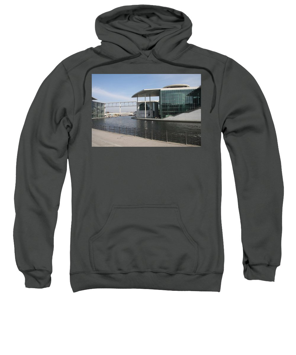 Government Building Sweatshirt featuring the photograph Berlin Government Building - Germany by Christiane Schulze Art And Photography