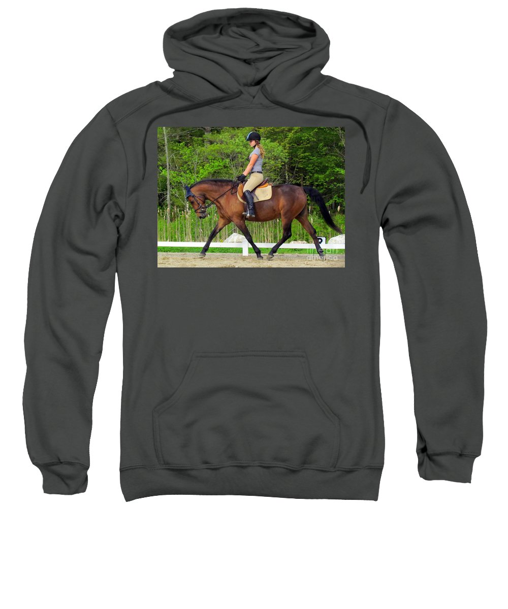 Horse Sweatshirt featuring the photograph Best Friends Forever by Elizabeth Dow