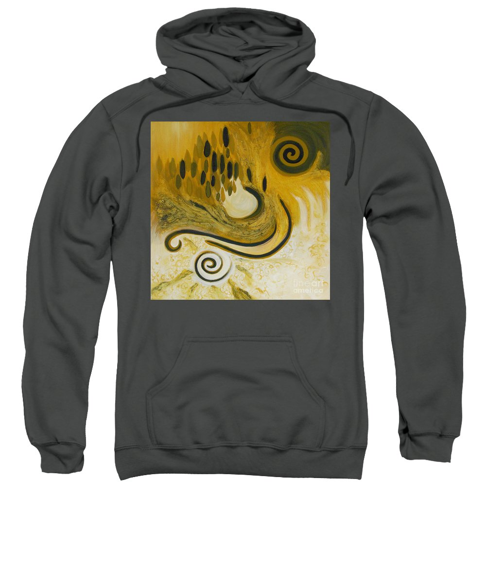 Spiritual Sweatshirt featuring the painting Between Heaven And Hell by Tonya Henderson