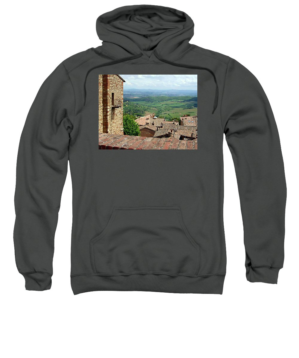 Beyond The Rooftops Sweatshirt featuring the photograph Beyond The Rooftops 1 by Ellen Henneke
