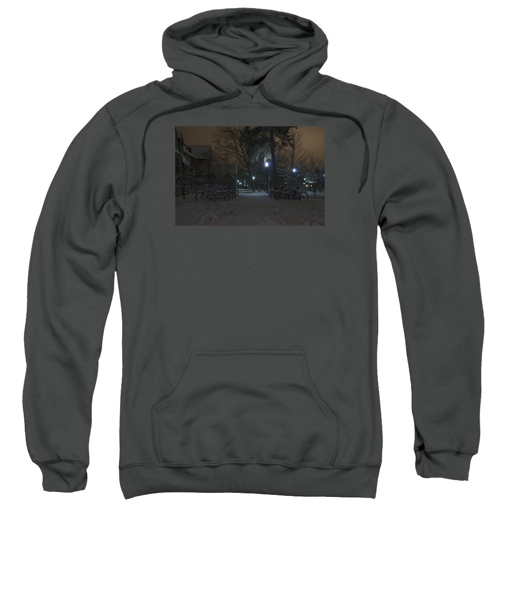 Bicycle Sweatshirt featuring the photograph Bicycle Barnyard by John Stephens