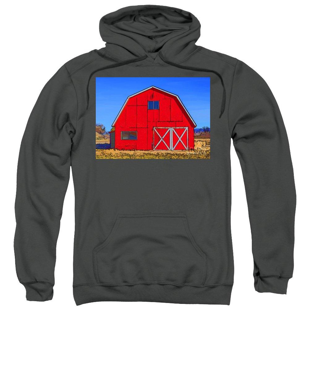 Barn Sweatshirt featuring the photograph Big Red Barn by Janice Pariza