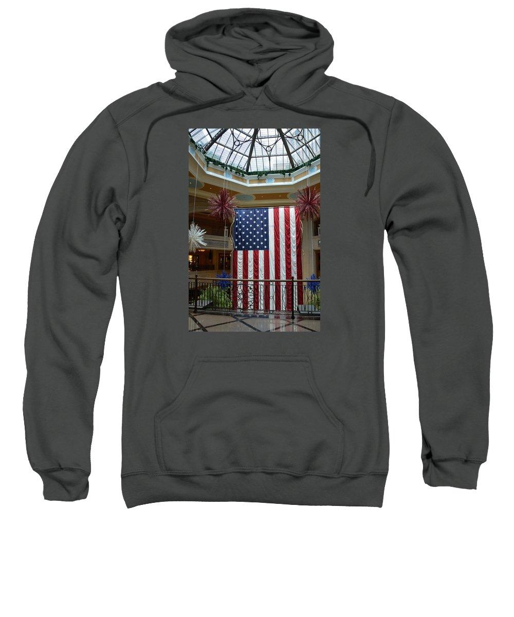 Flag Sweatshirt featuring the photograph Big Usa Flag 1 by RicardMN Photography
