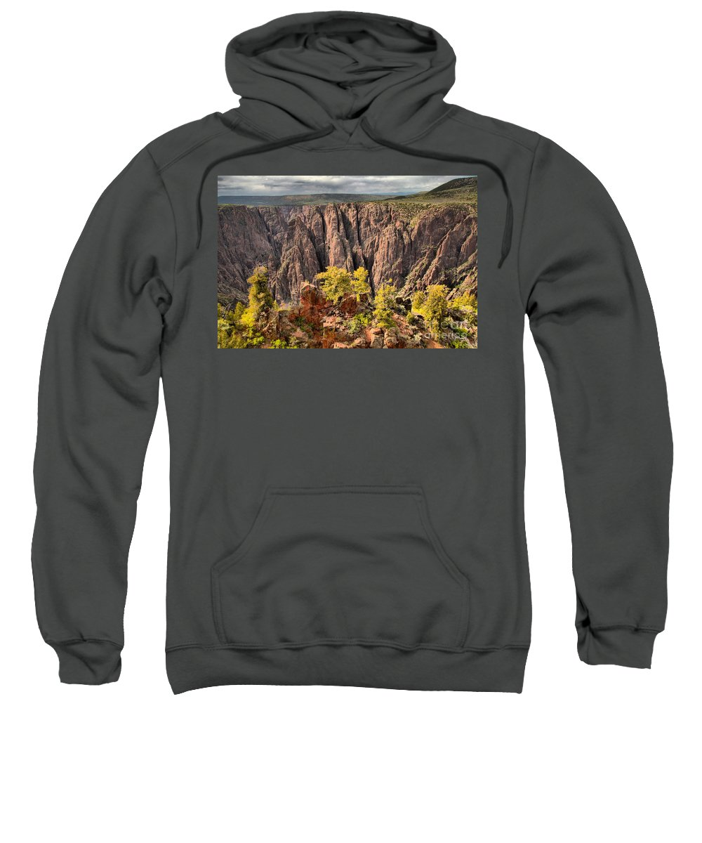 Black Canyon Sweatshirt featuring the photograph Black Canyon Spires by Adam Jewell