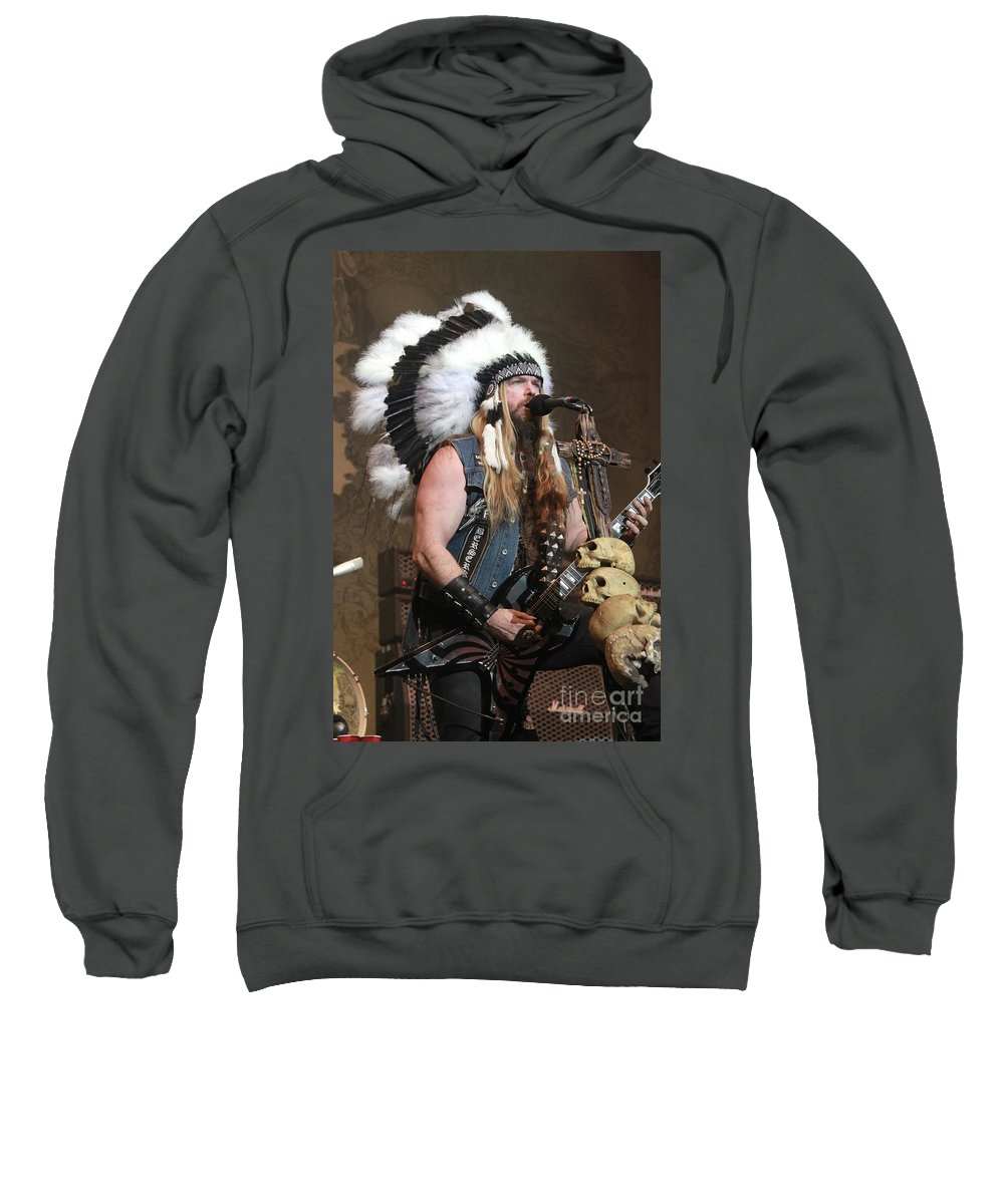 Beard Sweatshirt featuring the photograph Black Label Society - Zak Wylde by Concert Photos
