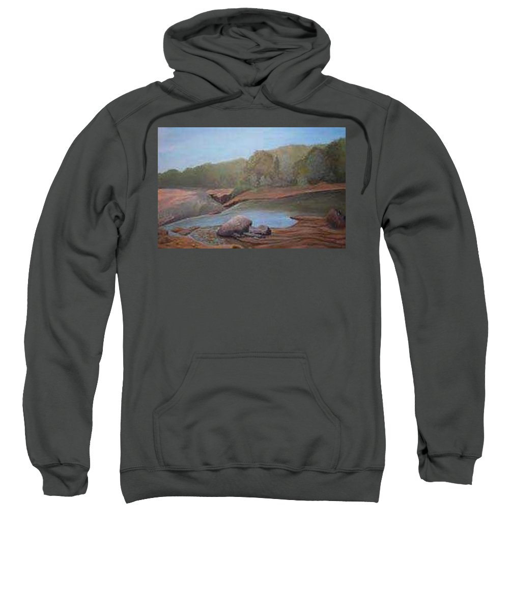 Rick Huotari Sweatshirt featuring the painting Black River Falls by Rick Huotari