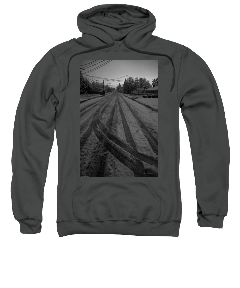 Grants Pass Sweatshirt featuring the photograph Blackout On Jordan Street by Mick Anderson