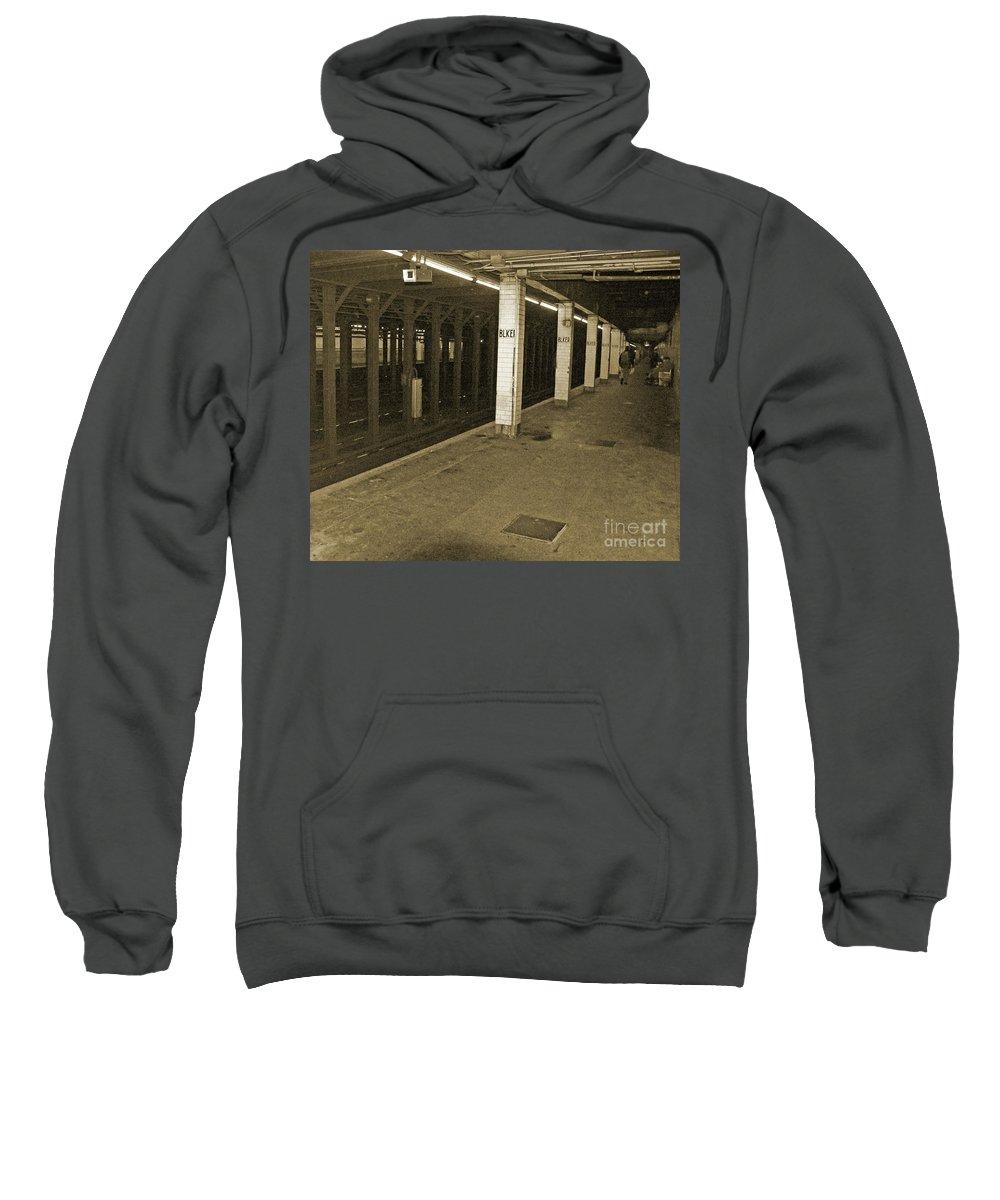 Bleecker Street Sweatshirt featuring the photograph Bleecker Street by Angela Wright