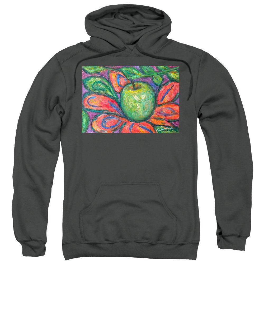 Apple Paintings Sweatshirt featuring the painting Blooming Apple by Kendall Kessler