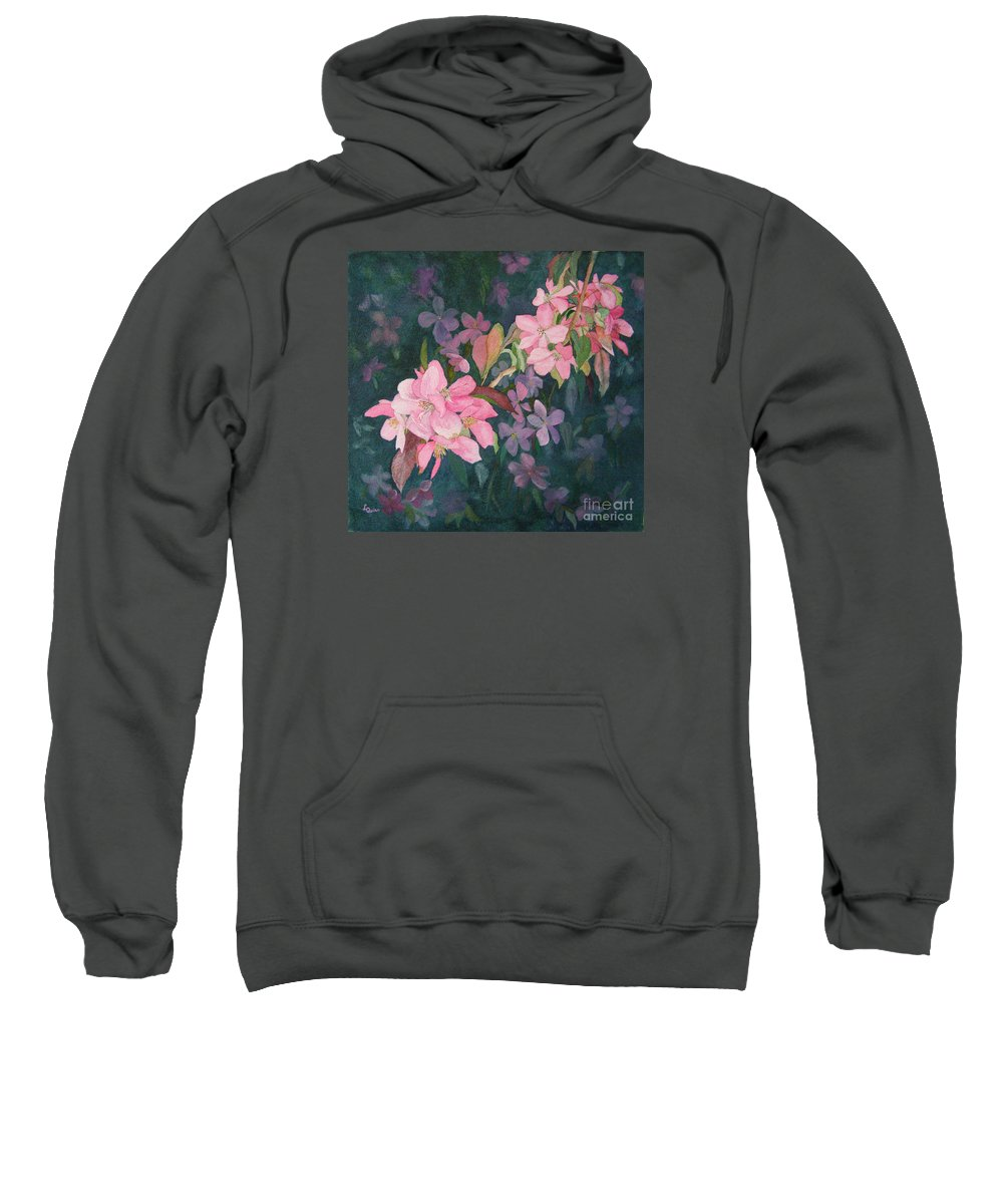 Blossoms Sweatshirt featuring the painting Blossoms For Sally by Lynn Quinn