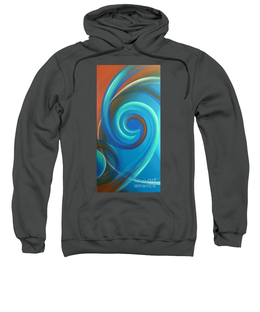 Abstract Prints Sweatshirt featuring the painting Cosmic Swirl By Reina Cottier by Reina Cottier