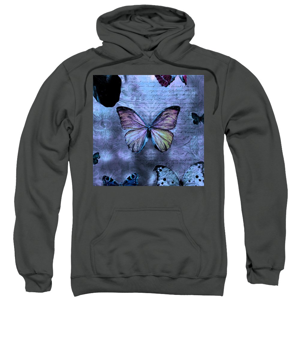 Evie Sweatshirt featuring the photograph Blue Jean Baby by Evie Carrier