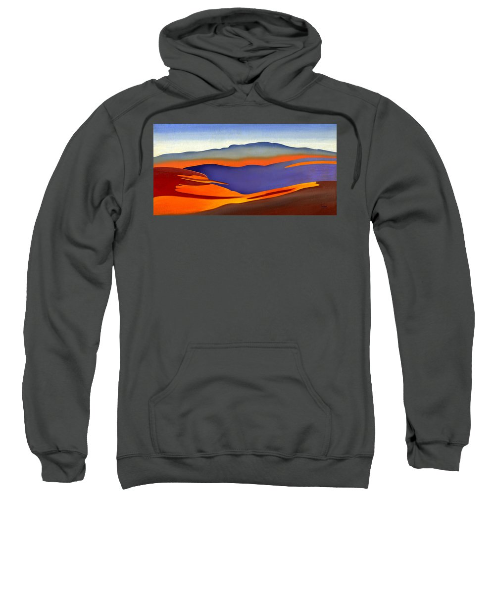 Blue Ridge Sweatshirt featuring the painting Blue Ridge Mountains East Fall Art Abstract by Catherine Twomey